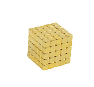 Buckyball Magnet Toys 125Pcs 5mm Executive Toys Magic Magnet DIY Balls Magnetic Balls Cube Puzzle Gold