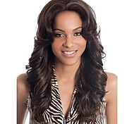 europeu mulheres senhora cor de mistura syntheic médio peruca onda
