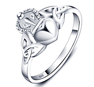 Fashion Party Crown Heart Accessories 925-Sterling-Silver Rings For Women&Lady