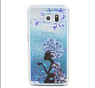 Girl Pattern PC  Stereoscopic Star Quicksand Phone Case for Samsung Galaxy  S4/S5/S6/S6Edge(Assorted Colors)