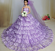 Barbie Doll Light Purple Wedding Organza / Lace Dresses Dresses