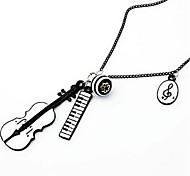 Violin Piano Music Pendant Necklace