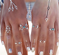 New Arrival Fashional Geometric Arrow Rings A Set