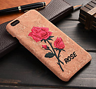 Luxury Retro Handmade Embroidery Rose Sculpture Leather Phone Back Case For Apple iPhone 6 Plus/6S Plus (Assorted Color)