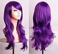 parrucche cosplay a buon mercato fasion pieni parrucche sintetiche parrucca 70 cm viola