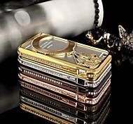 For iPhone 6 Case / iPhone 6 Plus Case Rhinestone / Plating / Embossed Case Back Cover Case 3D Cartoon Hard MetaliPhone 6s Plus/6 Plus /