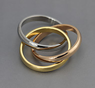 Классические кольца Серебрянное покрытие Сталь Мода Цвет экрана Бижутерия Для вечеринок 1шт