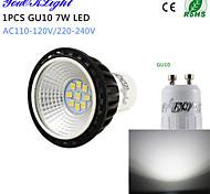 1 Stück YouOKLight Dekorativ LED Spot Lampen A50 GU10 7W 600 LM 6000 K 9 SMD 2835 Kühles Weiß AC 220-240 / AC 110-130 V
