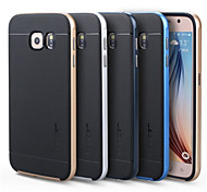 High Quality 2 in 1 Hybrid TPU+PC Hard Case for Samsung Galaxy S6 (Assorted Colors)
