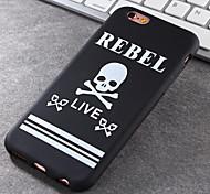 Super Popular Brands High-Grade Skull TPU Soft Phone Case for iPhone 6/6S