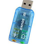 Virtual 5.1 Channel USB Sound Card Adapter