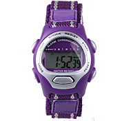 Fashion Purple Nylon Belt Child Electronic Watch