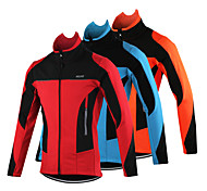 Arsuxeo Men's Fleece Winter Thermal Bicycle Cycling Windproof Soft Shell Jacket