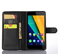 manga de protecção do titular lichia grão por polpa Wiko 4g fab telefone móvel