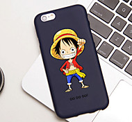 iFashion® Candy Color Black Hat Man Pattern Soft Case for iPhone 6/6s