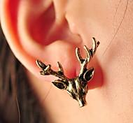 Korean Version Of The Retro Delicate  Kancil Antlers Earrings