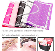 1Pcs Rectangle Lace Pad Nail Manicure Nail Art tools (Color Random)