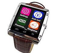 A8-1 ist ein Metallgehäuse Lederband intelligente Uhren, unterstützt android Apfel System, Bluetooth 4.0-Unterstützung intelligente Uhren