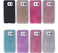 Fashion Dull Polish Rhinestone Design TPU Case for Galaxy S3 S3mini  S4 S4mini S5 S5mini S6 S6 Edge(Assorted Color)