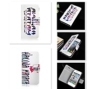 Just English letters Pattern PU Leather Full Body Case for iPhone 4/4S