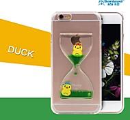 sanlead duck-2-PC mit Gummi und Sand Flüssigkeitsrückseitenfall für iphone6,6s