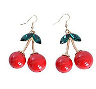 New Arrival Fashional Crystral Cherry Earrings