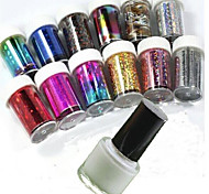 12pcs  Nail Star Paper+Special Glue