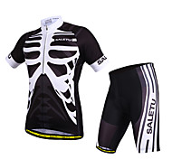 Cycling Jersey with Shorts Unisex Short Sleeve Bike Breathable / Quick Dry / Anatomic Design / Reflective Strips / Sweat-wickingJersey /