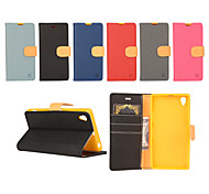 Yi Cai Gyrosigma PU leather Card Holder Leather Belt Around Open for Sony Z2(Assorted Colors)