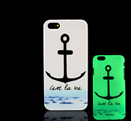 Anchors Pattern Glow in the Dark Hard Plastic Back Cover for iPhone 5 for iPhone 5s Case