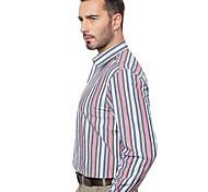 JamesEarl Men's Shirt Collar Long Sleeve Shirt & Blouse Red - MB1XC001101