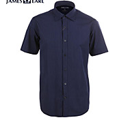 JamesEarl Men's Shirt Collar Short Sleeve Shirt & Blouse Black - M21X5001104