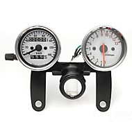 Motorcycle Odometer Tachometer Speedometer Gauge with Black Bracket