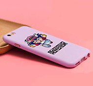 iFashion® Candy Color Purple Run Hat Lovely Gril Pattern Soft Case for iPhone 6/6s