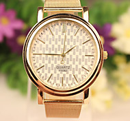 Gold Mesh Grid Korean Fashion Explosion Models Male Ms. Universal Watch Cool Watches Unique Watches