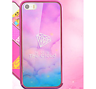Hot Pink Cute Girl Special Luxury Art Print Painted Soft TPU & PC Plating Frame Back Phone Case For IPhone 6 6S 4.7 Inch