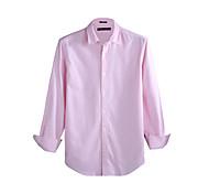 JamesEarl Men's Shirt Collar Long Sleeve Shirt & Blouse Pink - M81XF001102