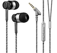 Kanen 3.5mm Hands-free Stereo In Ear Headphone Low Bass Headset with Mic for Smartphones Samsung iPhone