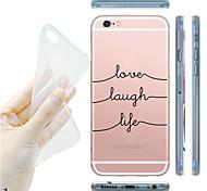 для iphone 7 maycari®black и белый мягкий прозрачный Вернуться ТПУ чехол для iPhone5 / iphone 5s