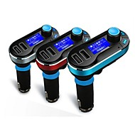 kit carro mp3 player fm transmissor sd lcd Carregador Dual USB 3 cores