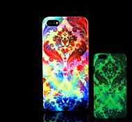 Flowers Pattern Glow in the Dark Hard Plastic Back Cover for iPhone 5 for iPhone 5s Case