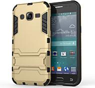 Pour Samsung Galaxy Coque Antichoc Avec Support Coque Coque Arrière Coque Armure Polycarbonate pour Samsung J5