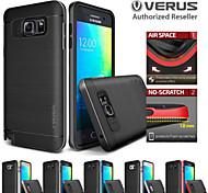 Für Samsung Galaxy Note Stoßresistent / Beschichtung Hülle Rückseitenabdeckung Hülle Einheitliche Farbe TPU Samsung Note 5 / Note 4