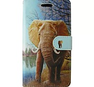 Orange Elephant Painted PU Phone Case for Huawei P8 Lite/P8/Y530