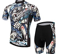 Men's Short Sleeve Cycling Clothing Sets/Suits Pants Breathable / Ultraviolet Resistant /Moisture Black