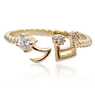 New Arrival Fashional Rhinestone Note Ring