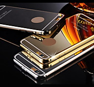 Compatible Solid Color/Metallic//Novelty Bumper Frame Plating Metal Frame Plating PC Back Cover for Phone 6