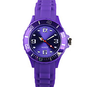 Fashion Purple Silicone Ladies Watch
