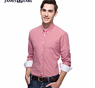 JamesEarl Men's Shirt Collar Long Sleeve Shirt & Blouse Red - DA112046201