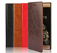 Genuine Leather Solid Color Ultra-Thin No Buckle Wallet Card PU Case with Stand for Huawei P8